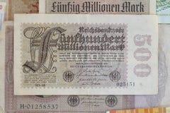 Mark de royaume Bill, argent historique de Deutsche image libre de droits
