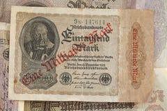 Mark de royaume Bill, argent historique de Deutsche image stock