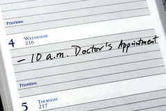 Mark the doctor appointment Stock Photo