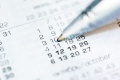 Mark the event in the calendar Royalty Free Stock Photography