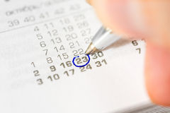 Mark the event in the calendar Stock Photos