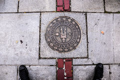 Mark on the Freedom Trail. Boston in Massachusettes Stock Image