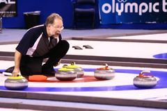 Mark Haluptzok - Curling Athlete Royalty Free Stock Images