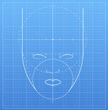 The mark of a human face in a notebook Royalty Free Stock Image