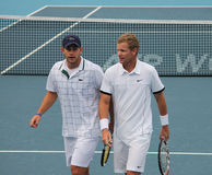 Mark Knowles and Andy Roddick Royalty Free Stock Photo