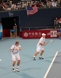 Mark Knowles and Andy Roddick Stock Photo