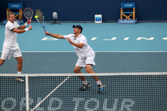Mark Knowles (BAH) and Andy Roddick (USA) Stock Photo