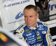 Mark Martin in garage area Royalty Free Stock Photography