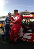 Mark Martin and Juan Pablo Montoya Royalty Free Stock Photos