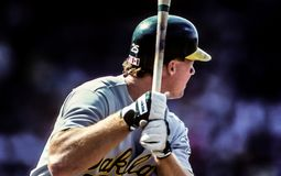 Mark McGwire, ` s d'Oakland A Images stock