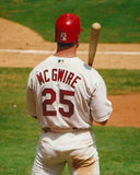 Mark McGwire, St. Louis Cardinals. Mark McGwire watching batting practice. (Image from color slide Royalty Free Stock Photos