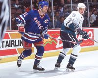 Mark Messier. New York Rangers star forward Mark Messier. Image taken from a color slide stock photo