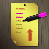 Mark Objectives. Illustration of Mark Objectives with pen Royalty Free Stock Photos