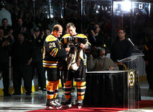 Mark Recchi and Andrew Ference Boston Bruins Royalty Free Stock Images
