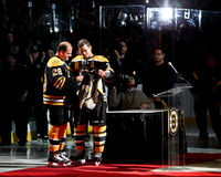 Mark Recchi and Andrew Ference Boston Bruins Royalty Free Stock Photos