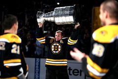 Mark Recchi holding Stanley Cup Stock Images