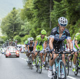 Mark Renshaw em Colo du Tourmalet - Tour de France 2014 Fotos de Stock