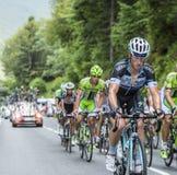 Mark Renshaw op Col. du Tourmalet - Ronde van Frankrijk 2014 Stock Foto's