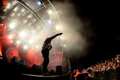 Mark Ronson (band) in concert at FIB Festival stock photography