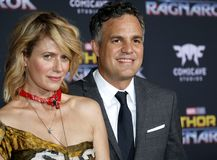 Mark Ruffalo ed alba Coigney Immagine Stock