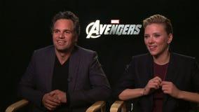Mark Ruffalo Johansson & Scarlett fotografia royalty free