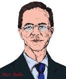 Mark Rutte, político holandés, primer ministro de Países Bajos desde 2010, líder del partido del ` s de la gente para la libertad ilustración del vector