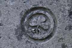 Mark of Saint Patrick on stone, Rock of Cashel, Co Tipperary Stock Photos