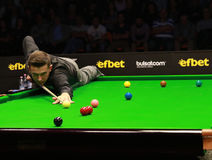 Mark Selby of England participates in snooker show The Eleven 30 Series 2016 Royalty Free Stock Image
