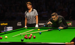 Mark Selby of England participates in snooker show The Eleven 30 Series 2016 Stock Images
