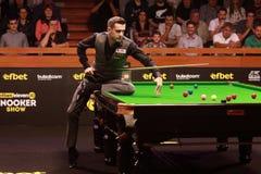 Mark Selby van Engeland neemt aan snooker deel toont de Elf 30 Reeksen royalty-vrije stock foto