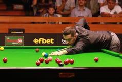 Mark Selby van Engeland neemt aan snooker deel toont de Elf 30 Reeksen royalty-vrije stock afbeelding