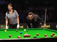 Mark Selby van Engeland neemt aan snooker deel toont de Elf 30 Reeksen 2016 royalty-vrije stock foto