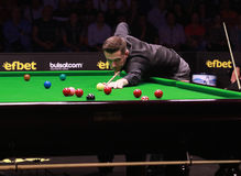 Mark Selby van Engeland neemt aan snooker deel toont de Elf 30 Reeksen 2016 royalty-vrije stock fotografie