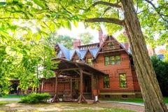 Mark Twain House en het Museum Royalty-vrije Stock Foto's