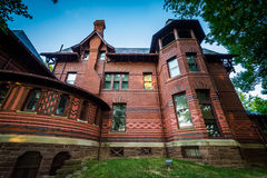 The Mark Twain House, in Hartford, Connecticut. Royalty Free Stock Photo