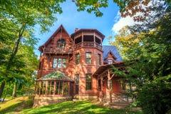 Mark Twain House och museet Arkivbild