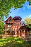 Mark Twain House und das Museum Lizenzfreie Stockfotos