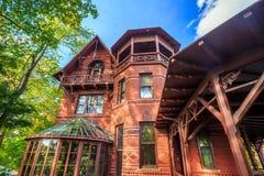 Mark Twain House y el museo Imagen de archivo