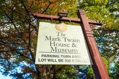 Mark Twain House y el museo Imagen de archivo libre de regalías