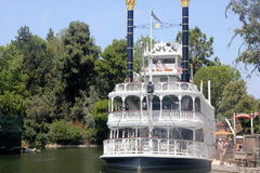 Mark Twain Riverboat, Disneyland, Anaheim, California. A working reproduction of the historic vessels that ferried people up and down the mighty Mississippi royalty free stock images