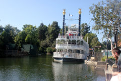 Mark Twain Riverboat, Disneyland, Anaheim, California. A working reproduction of the historic vessels that ferried people up and down the mighty Mississippi royalty free stock image