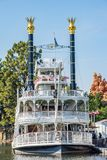 Mark Twain Riverboat-Fahrt bei Disneyland Stockbild