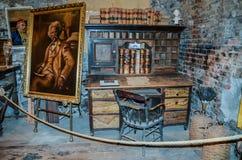 Mark Twain ` s biurko Terytorialny przedsięwzięcie - Mark Twain muzeum - obraz royalty free