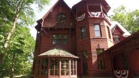 Mark Twain's House stock video footage
