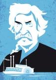 Mark Twain, vectorillustratieportret Stock Foto