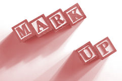 Mark up Blocks Royalty Free Stock Photo