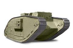 Mark V Tank. British Mark V tank against white background Royalty Free Stock Photos