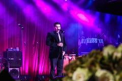 Mark Vincent - offentlig sångare Arkivbild