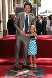 Mark Wahlberg. And daughter Ella  at 's Star Ceremony on the Hollywood Walk Of Fame, Hollywood, CA. 07-29-10 Stock Images