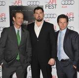 Mark Wahlberg et Marcus Luttrell et Peter Berg Image stock